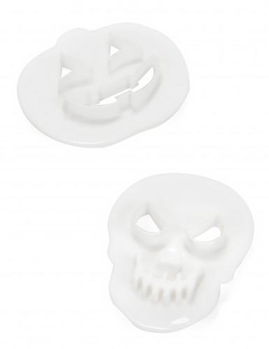 2 Halloween-Ausstechförmchen doppelseitig