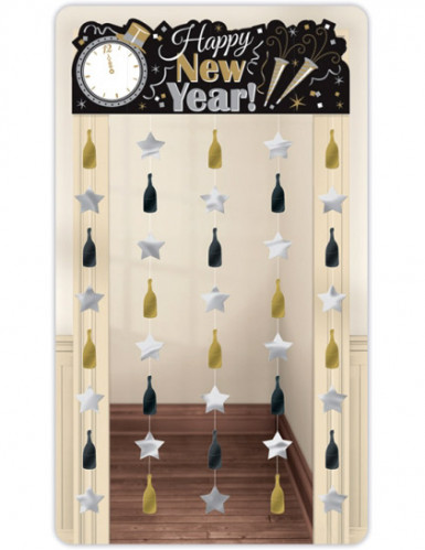 Silvester Tür-Vorhang Happy New Year