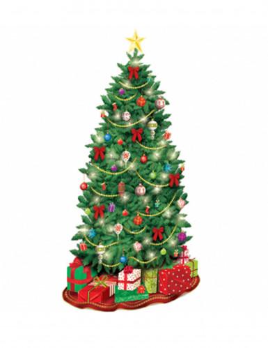 Wanddekoration Weihnachtsbaum aus Pappe