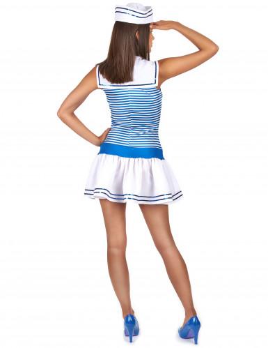 Matrosen-Kostüm in weiß-blau für Damen-1
