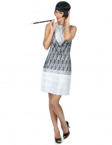 Weißes Charleston-Kostüm für Damen
