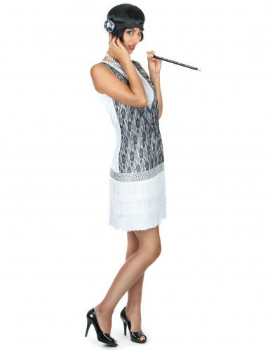 Weißes Charleston-Kostüm für Damen-1
