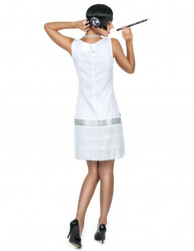 Weißes Charleston-Kostüm für Damen-2
