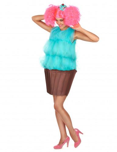 Cupcake Kostüm für Damen - türkis-2