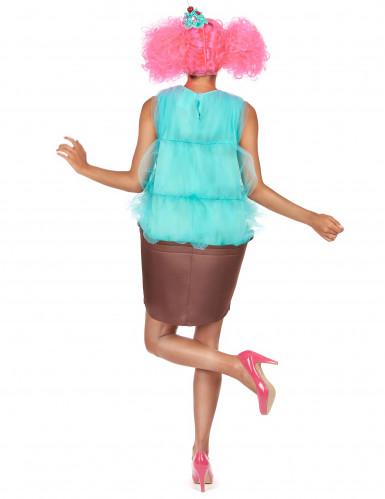 Cupcake Kostüm für Damen - türkis-1