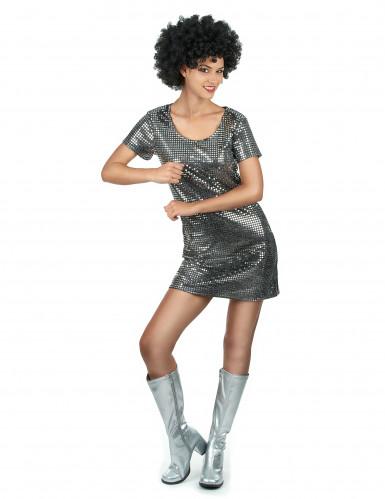 Disco-Kostüm für Damen in silber