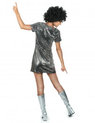 Disco-Kostüm für Damen in silber-2