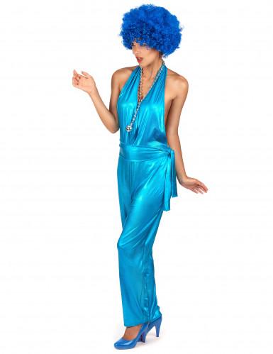 Blaues Disco-Kostüm für Damen-1
