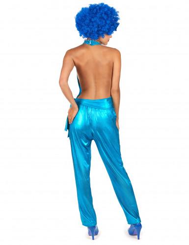Blaues Disco-Kostüm für Damen-2