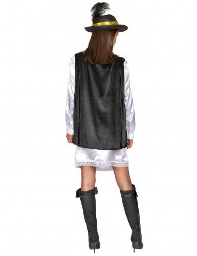 Musketier Kostüm für Damen mit schwarzem Hut-2