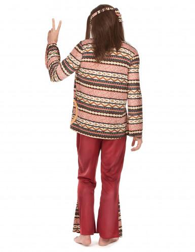 Hippie-Kostüm für Herren - bordeauxfarben-1