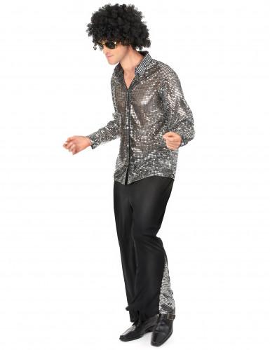Disco-Kostüm für Herren in silber-1
