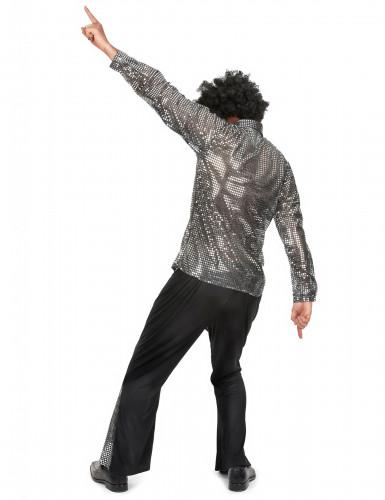 Disco-Kostüm für Herren in silber-2