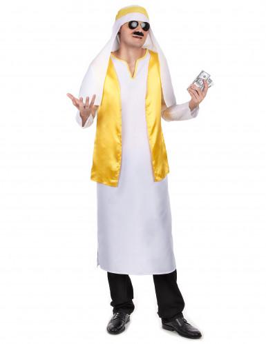 Arabischer Scheich-Verkleidung für Herren in gelb-weiß Einheitsgröße
