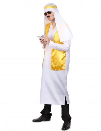 Arabischer Scheich-Verkleidung für Herren in gelb-weiß-1