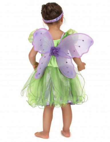 Feen-Kostüm grün für Mädchen-2