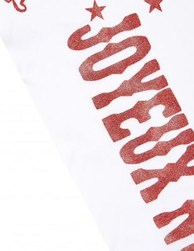 Tischläufer Joyeux Noël rot-weiß-1