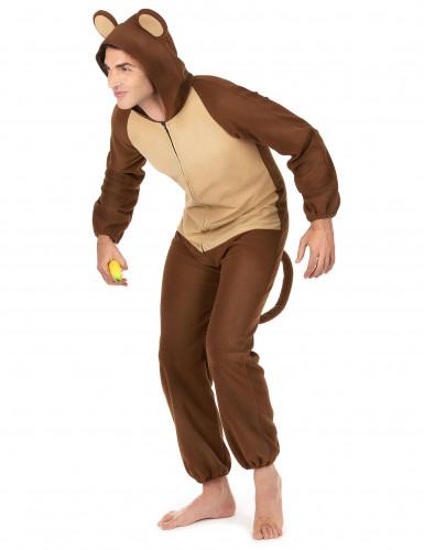 Affen-Kostüm für Herren Overall braun-beige-1