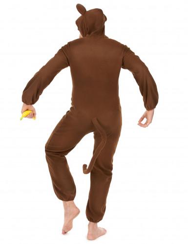 Affen-Kostüm für Herren Overall braun-beige-2