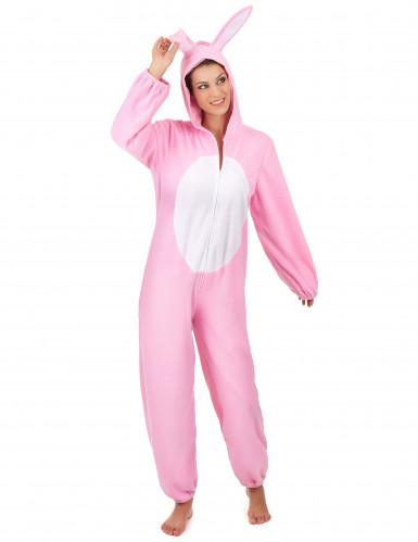 Rosa Hase-Kostüm für Damen