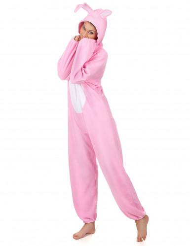 Rosa Hase-Kostüm für Damen-1