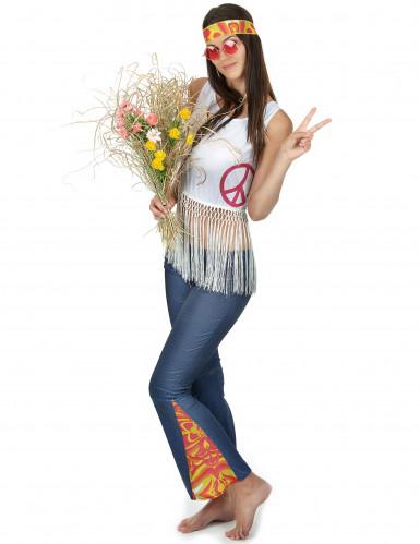 Hippie-Kostüm für Frauen bunt