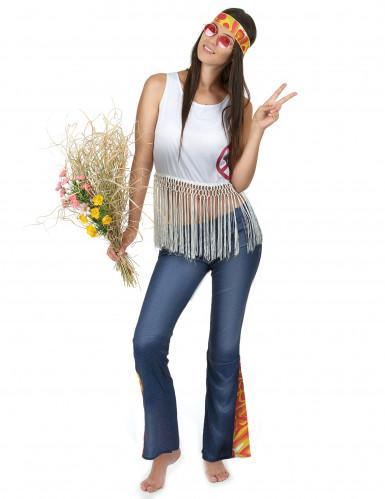 Hippie-Kostüm für Frauen bunt-1