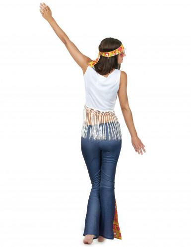 Hippie-Kostüm für Frauen bunt-2