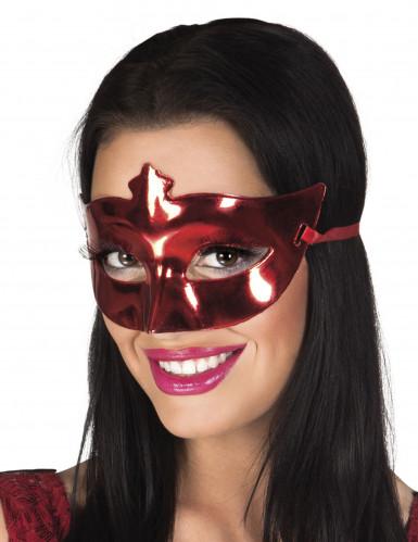 Dunkelrote Augenmaske in Lackoptik