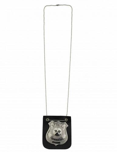Halskette mit Plakette eines Polizeibeamten für Erwachsene