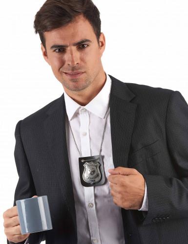 Halskette mit Plakette eines Polizeibeamten für Erwachsene-1
