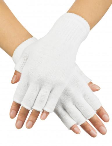 Kurze weiße Handschuhe für Erwachsene