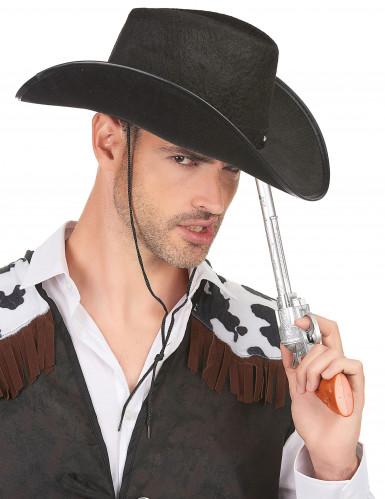 Cowboy-Hut in schwarz für Erwachsene-2