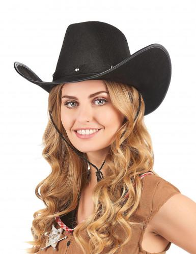 Cowboy-Hut in schwarz für Erwachsene-1
