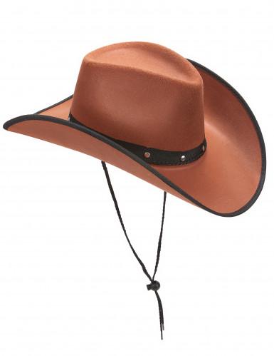 Brauner Cowboy-Hut für Herren