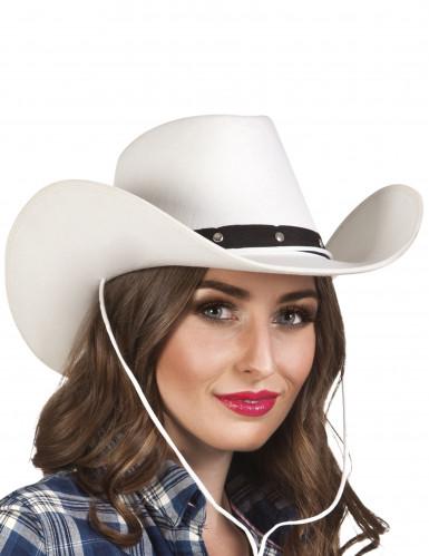 Weißer Cowboyhut für Erwachsene