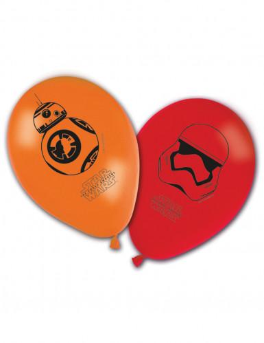 8 bedruckte Luftballons Star Wars VII™