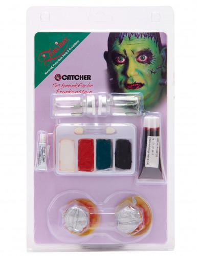 Grünes Monster Make-Up-Set mit Kontaktlinsen-1