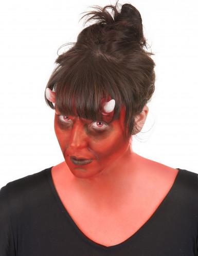 Dämon Make-Up-Set mit Kontaktlinsen