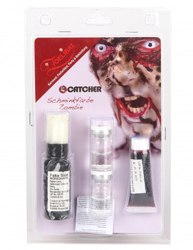 Zombie Make-Up-Set mit Kontaktlinsen-1