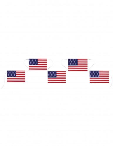 USA-Fahnen-Girlande blau-weiss-rot-5m
