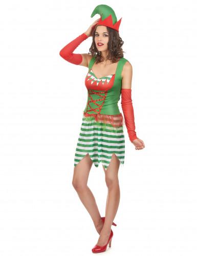 Paartner Weihnachts-Elfen Kostüm-2