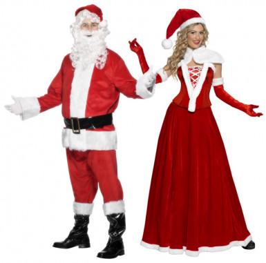 Kostüm für Paare Weihnachtsmann und -frau