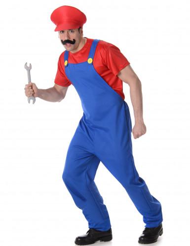 Rotes Klempner Kostüm für Erwachsene