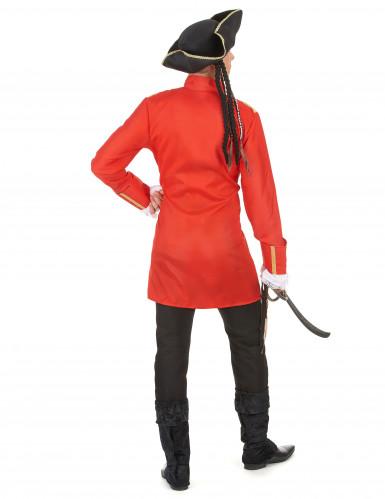 Rotes Piratenkostüm für Erwachsene-2