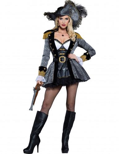 Piratin der Weltmeere Kostüm - Deluxe