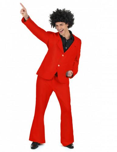 Rotes Disco Kostüm