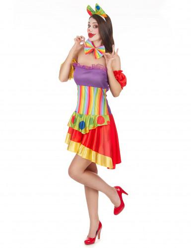 Clowns-Kostüm für Damen-1