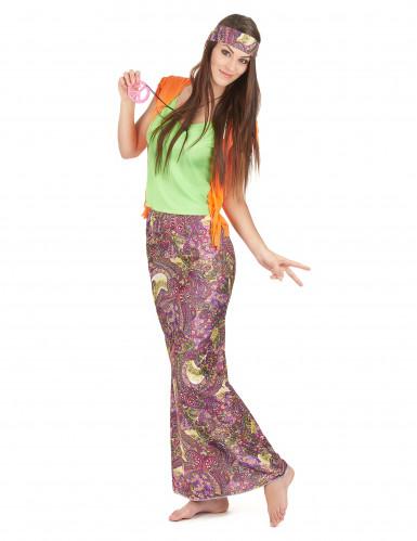 Lässiges Hippie-Damen-Kostüm bunt-1