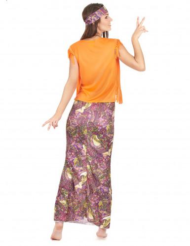 Lässiges Hippie-Damen-Kostüm bunt-2